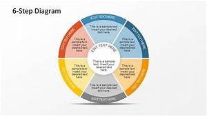 6 Step Circular Diagram With 2 Levels For Powerpoint