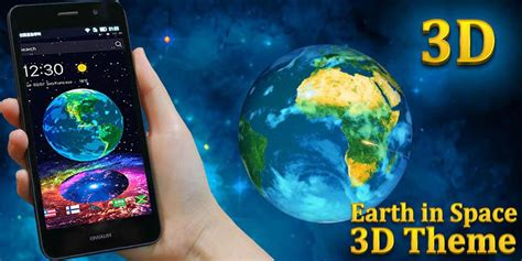 earth in space 3d theme for android apk download