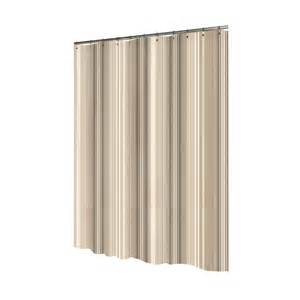 Allen Roth Curtains Alison Stripe by Shop Allen Roth Polyester Brown Striped Shower Curtain