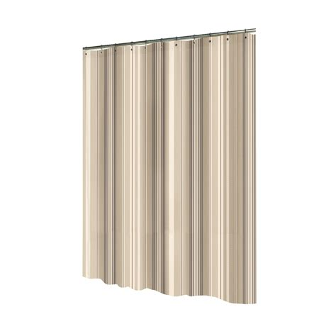 shop allen roth polyester brown striped shower curtain