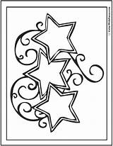 Coloring Star Pages Stars Printable Pdf Template Reach Swirled Three Templates Colorwithfuzzy sketch template