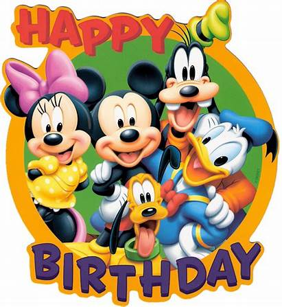 Birthday Clipart Mickey Mouse Happy Disney Clipartion