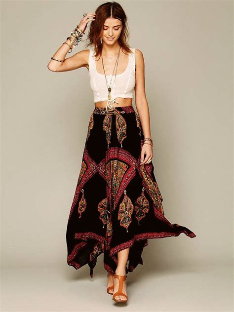 chic ideas  bohemian long skirt fashion styling designers outfits collection