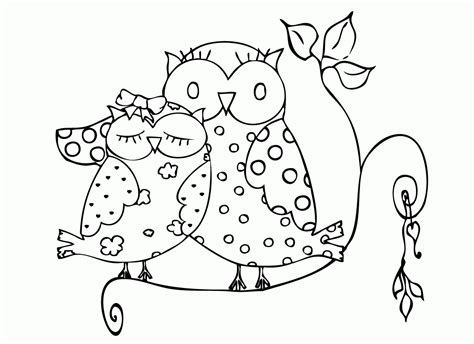 Free Owl Preschool Coloring Pages