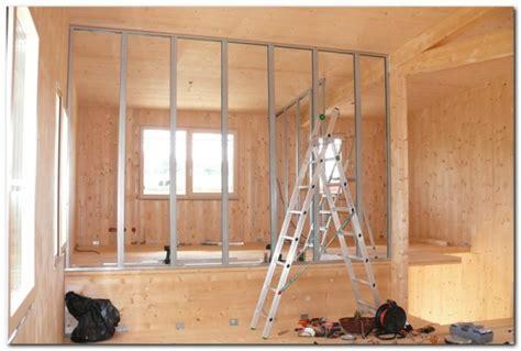isolation phonique entre 2 chambres premier jour du montage de la structure klh deuxième