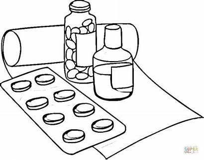 Coloring Medicine Pages Drugs Medication Wheel Sheets