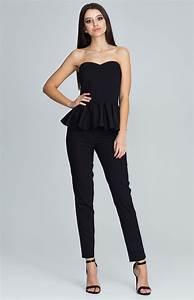 Pantalon De Soiree Chic : ensemble bustier pantalon noir flm606n idresstocode boutique de d shabill s et nuisettes ~ Melissatoandfro.com Idées de Décoration