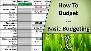 How To Basic : how to budget basic budgeting youtube ~ Buech-reservation.com Haus und Dekorationen