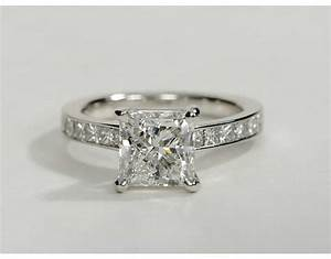 2 carat diamond princess cut channel set diamond With princess cut wedding rings 2 carat