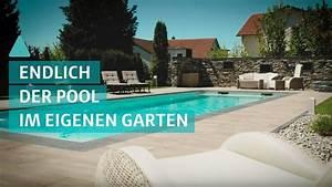 Pool Für Den Garten : der traum vom eigenen pool im garten youtube ~ Watch28wear.com Haus und Dekorationen