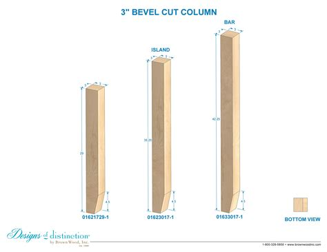 bevel cut columns cabinet furniture components