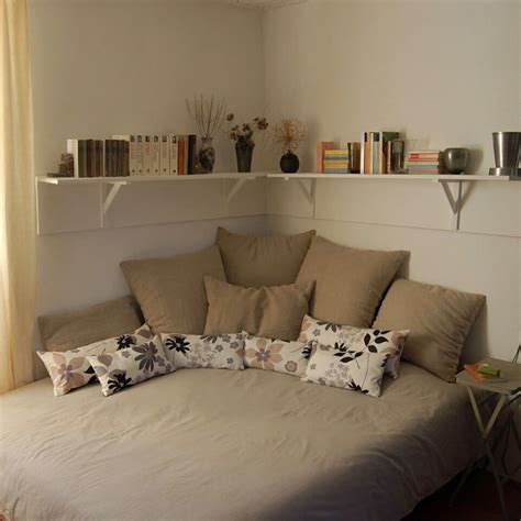 Bedroom Decoration Low Budget by Corner Living With Lots Of Pillows For The Home Bed In
