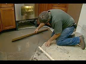how to level a concrete floor this house