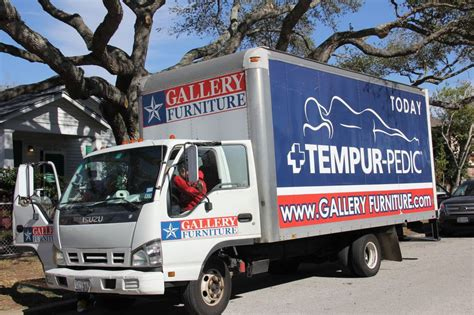 gallery furniture delivery truck  arrived