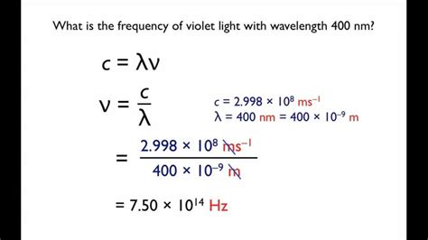 Energy Of Light Equation by Frequency Wavelength And Energy Relations Physics Pdl
