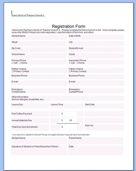 business form sample business form templates