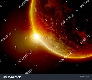 Red Planet Earth In Outer Space Stock Photo 11437456 ...
