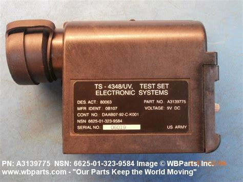 6625-01-323-9584 - ELECTRONIC SYSTEMS TEST SET   WBParts