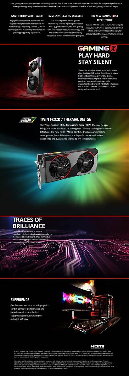 Rx Xt Gaming Msi 8gb Radeon Graphics