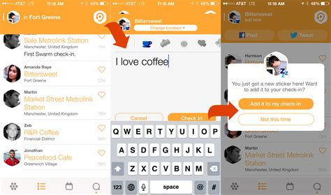How the New Foursquare Check in App Swarm Works ? Skift