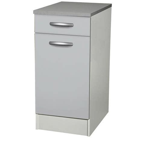 meuble bas cuisine 1 porte meuble de cuisine bas 1 porte 1 tiroir gris aluminium