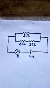 In The Circuit Diagram  Calculate   A  Total Resistance  B