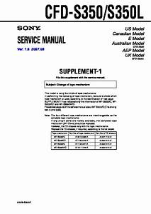 Sony Cfd-s350  Cfd-s350l Service Manual