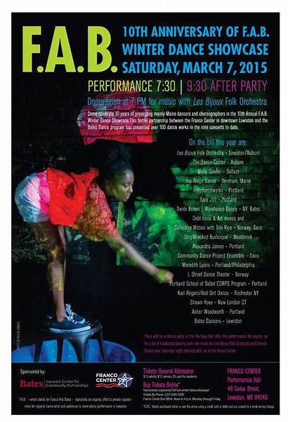 Dance Posters Performance Bates College Come Tickets