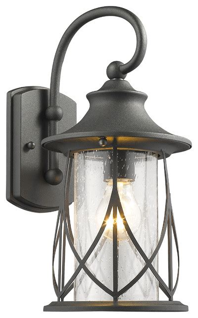 marhaus 1 light black outdoor wall sconce 15 quot high