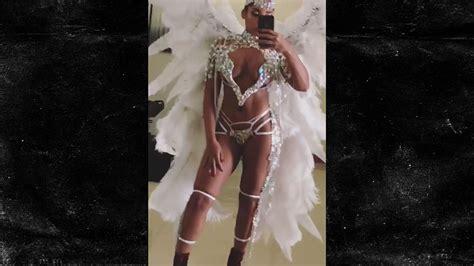 Usain Bolts Gf Half Naked Heavensent For Jamaican Carnival Shakarasquare