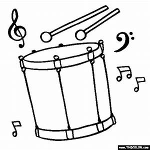 Tenor-drum Coloring Page | Color Tenor-drum | coloring ...
