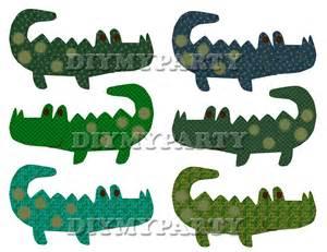 Printable Party Alligator Clip Art