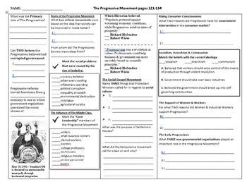 progressive era worksheets resultinfos