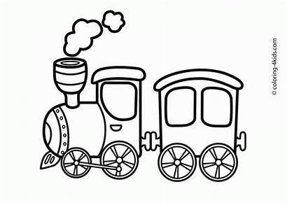 Coloring Train Pages Blank Printable Transportation Popular