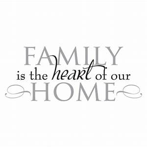 Family Heart of Home Wall Quotes™ Decal | WallQuotes.com