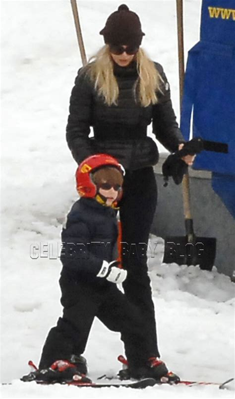 claudia schiffer and family claudia schiffer and family hit the slopes moms babies