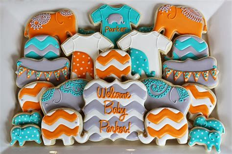boy baby shower colors s cookies elephant baby shower cookies