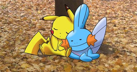 pikachu and mudkip afternoon nap by jackspade2012 on