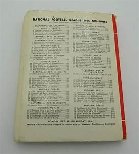1955 Nfl Football Record And Rules Manual Press  Media