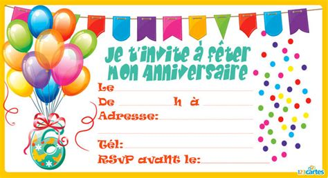 Carte Invitation Anniversaire 12 Ans Carte Invitation