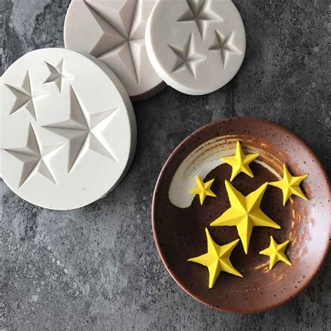 hot sale  pointed star fondant cake silicone mold diy