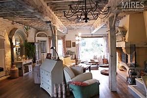c0678 mires paris With meuble de cuisine industriel 16 poutres murs en pierre et meubles de campagne c0678
