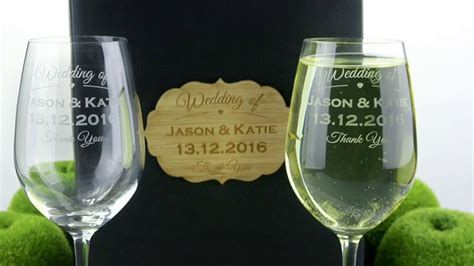 Laser Engraved Wedding Glasses At Factory Direct Prices