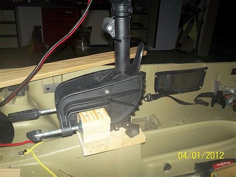 Jon Boat Outboard Motor Mount by Diy Trolling Motor Mount Jon Boat Best Diy Do It Your Self