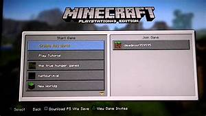 How To Join Minecraft Servers On PS3 YouTube