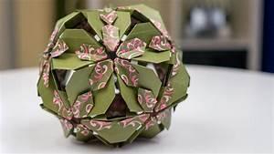 Mobile Basteln Origami : basteln mit papier origami bl tenkugel falten youtube ~ Orissabook.com Haus und Dekorationen