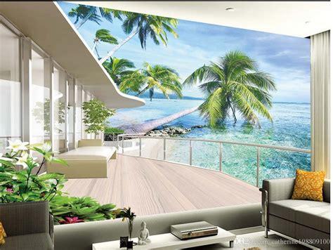 high quality costom villa balcony landscape tv wall
