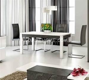 table a manger design lizea zd1 tab r d 049jpg With meuble d entree chaussures 8 miroir design blanc lizea zd1 jpg