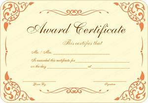 Open Award Certificate Template Get Certificate Templates