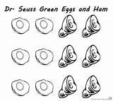 Ham Eggs Coloring Seuss Dr Printable Six Hams sketch template
